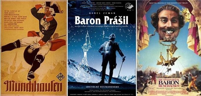 Filmaffischer från 1943, 1962 och 1988. ©UFA/Krátký/Columbia