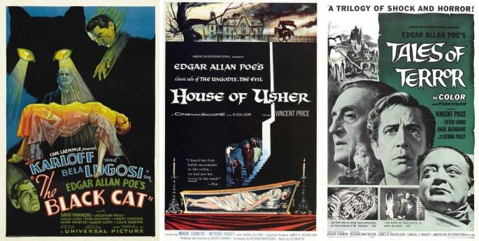 Filmaffischer från 1934, 1960 och 1962. ©Universal/AIP