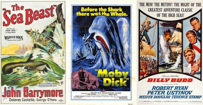 Filmaffischer från 1926, 1956 och 1962. ©Warner/UA/AA