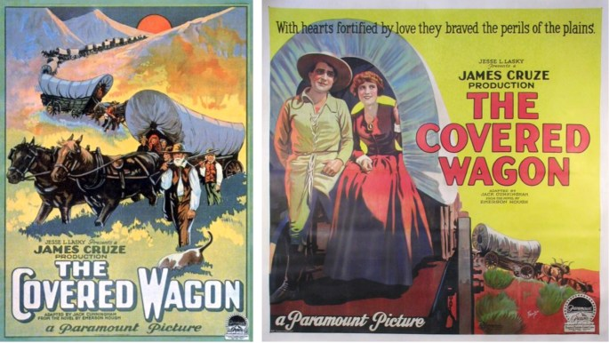 Filmaffisher från The Covered Wagon (1923).