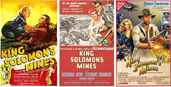 Filmaffisher från 1937, 1950, och 1985. ©GBPC/MGM/Cannon