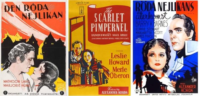 Filmaffischer från 1928, 1934 och 1937. ©W&F/London/UA