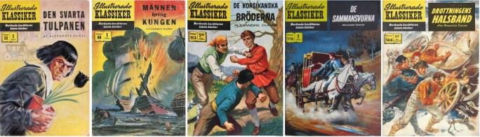 Omslag till Illustrerade klassiker 53, 60, 113, 116 och 144. ©IK/Gilberton