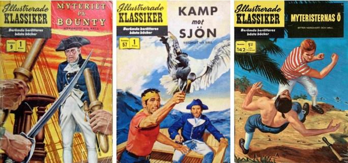 Omslag till Illustrerade klassiker 9, 57 och 142. ©IK/Gilberton