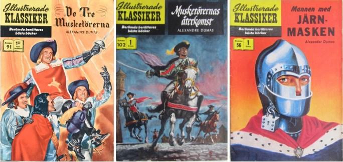 Omslag till Illustrerade klassiker 91, 102 och 56. ©IK/Gilberton