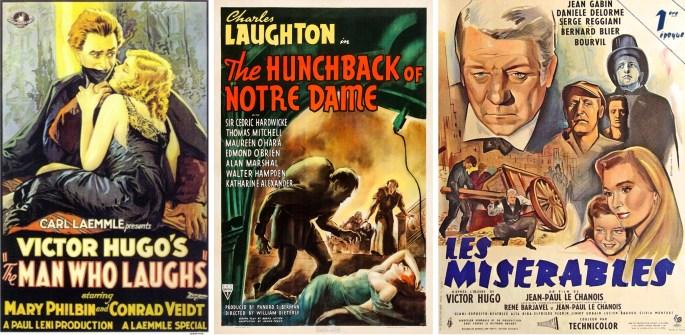 Filmaffischer från 1928, 1939 och 1958