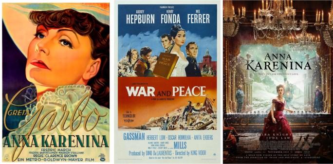 Filmaffischer från 1935, 1956 och 2012. ©MGM/Paramount/Universal