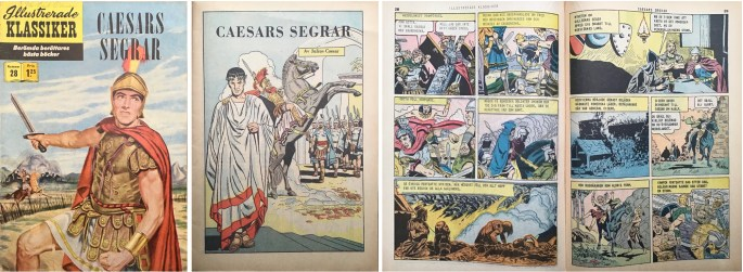 Illustrerade klassiker 21-30: Omslag, förstasida och ett uppslag ur Illustrerade klassiker nr 28. ©IK/Gilberton