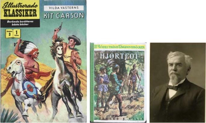 Omslag till Illustrerade klassiker 3, av ungdomsboken Hjortfot, och fotografi av Edward S. Ellis. ©IK/Wahlströms/Gilberton