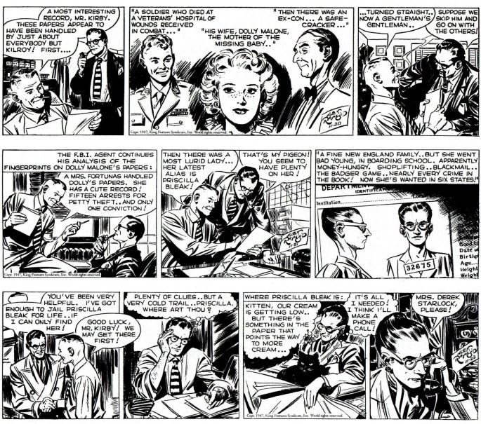 Dagsstrippar i original från 20-22 november 1947. ©KFS