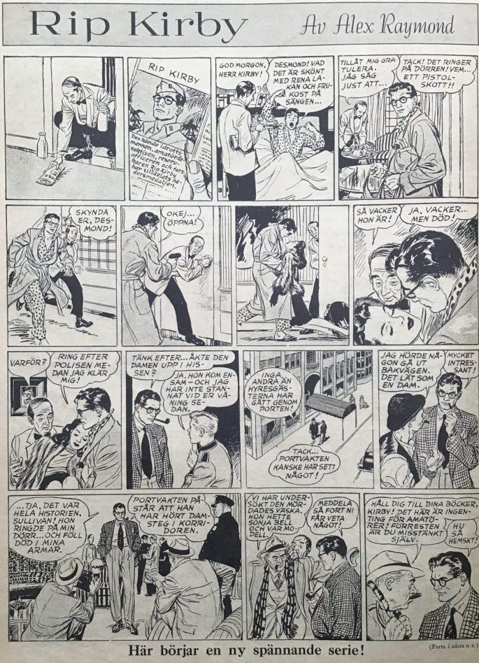 Första sidan med Rip Kirby i Karl-Alfred. ©Bulls
