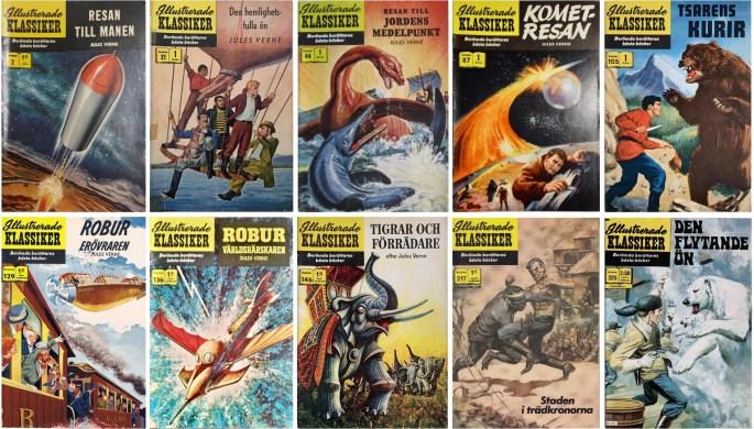Omslag till Illustrerade klassiker med förlagor av Jules Verne. ©IK/Gilberton