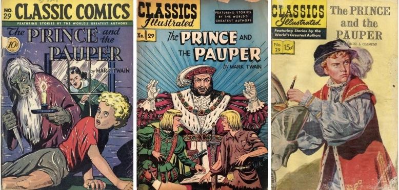 Omslag till Classic Comics #29 (1946), och Classics Illustrated #29 (1949 och 1955). ©Gilberton