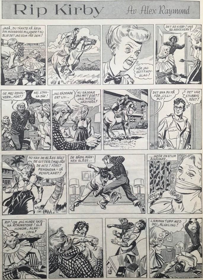 Sidan med Rip Kirby i Karl-Alfred nr 51, 1948. ©Bulls