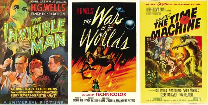 Filmaffischer från filmatiseringen 1933, 1953 och 1960. ©Universal/ParamountMGM