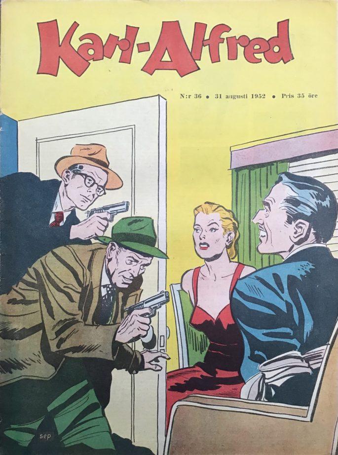 Omslag till Karl-Alfred nr 36, 1952. ©Aller