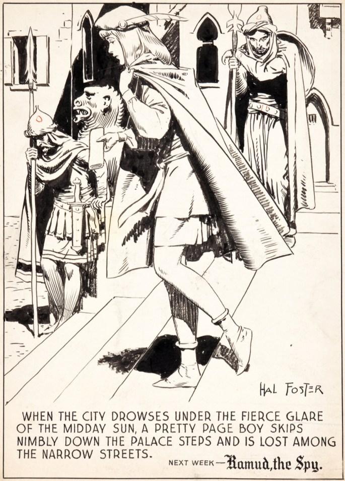 Original till sista rutan i sidan #456, från 4 november 1945. ©KFS