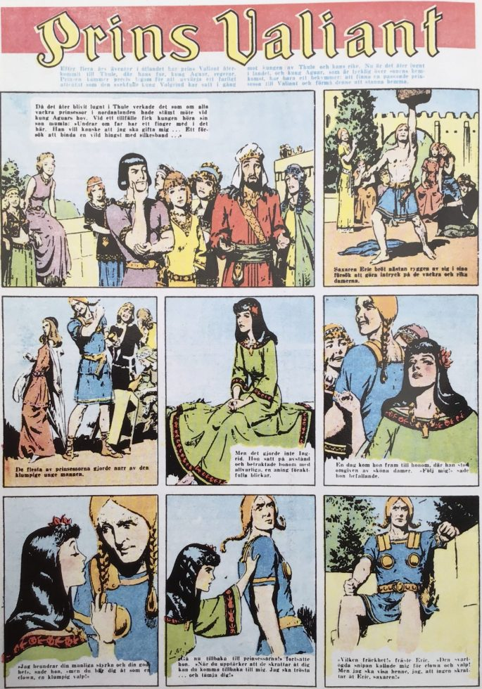 Första sidan med Prins Valiant ur Karl-Alfred nr 1, 1946. ©Bulls