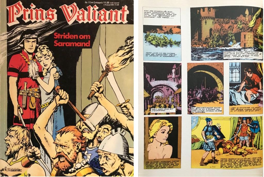 Motsvarande sida i seriealbumet Prins Valiant nr 11 från Semic. ©Bulls