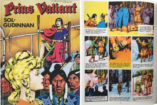 Motsvarande sida i seriealbumet Prins Valiant nr 13 från Semic. ©Bulls