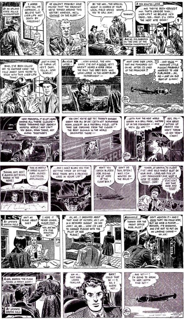 Inledande dagsstrippar i original från 30 december 1946 till 4 januari 1947. ©KFS
