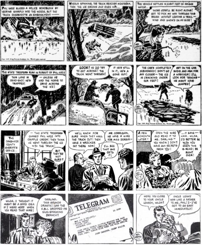 Dagsstrippar i original från 29 december 1947 till 1 januari 1948. ©KFS