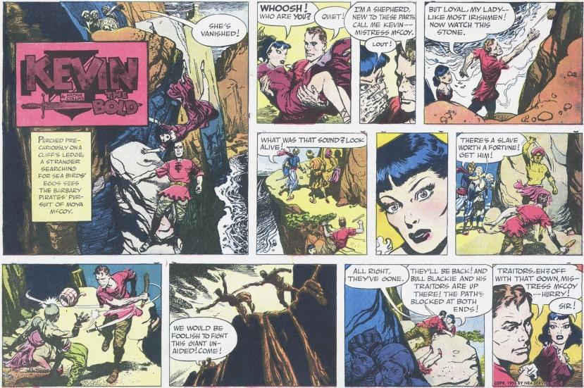 Kevin dyker själv upp i Kevin The Bold (Roland den Djärve) den 8 oktober 1950. ©NEA