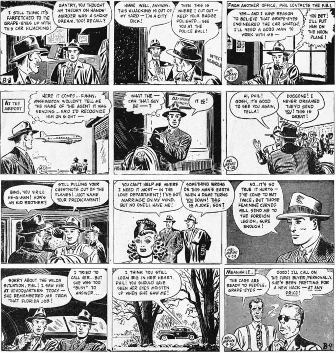 Motsvarande dagsstrippar i original från 27-30 maj 1947. ©KFS