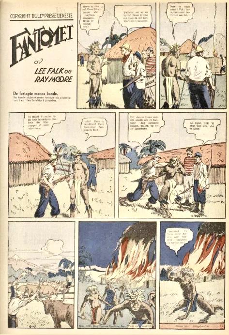 Den första publiceringen av Fantomet i A-Magasinet nr 47, 1939, den 25 november 1939. ©Bulls