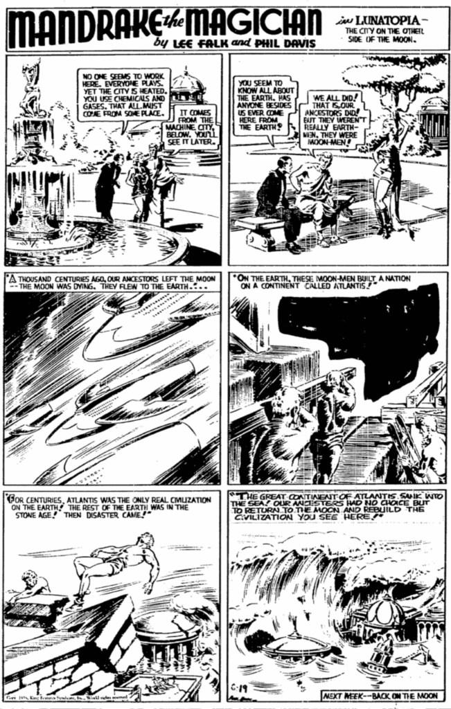 Motsvarande söndagssida i original från 19 juni 1938. ©KFS