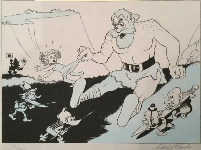 En annan av de teckningar som gav Barks jobb hos Disney.