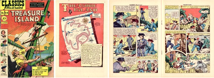 Omslag, förstasida och mittuppslag, ur CI #64 (1949). ©Gilberton