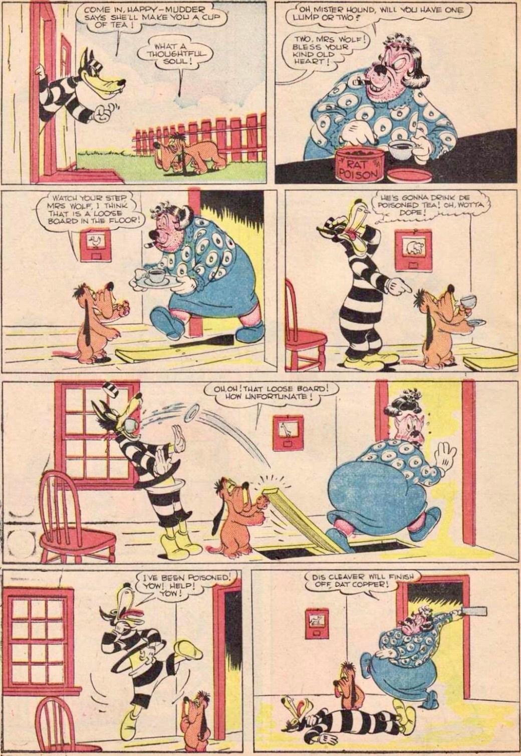 En sida med Happy Hound ur episoden The Prisoner's Mother. ©Dell