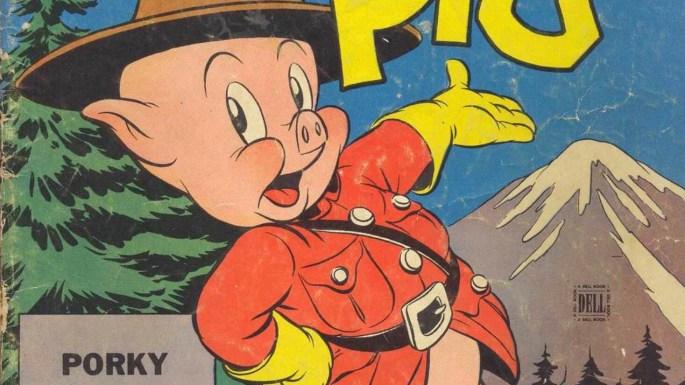Porky Pig of the Royal Mounties