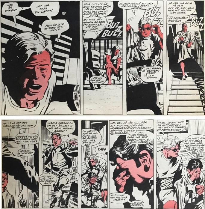 Några serierutor från sidan 18-19 ur Serie-Pressen nr 9, 1972. ©Marvel