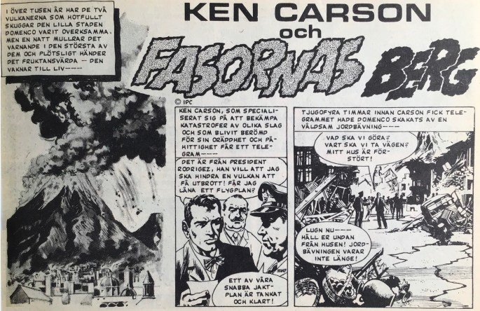 Inledande sida till Fasornas berg, ur Veckans serier, nr 22, 1972. ©IPC