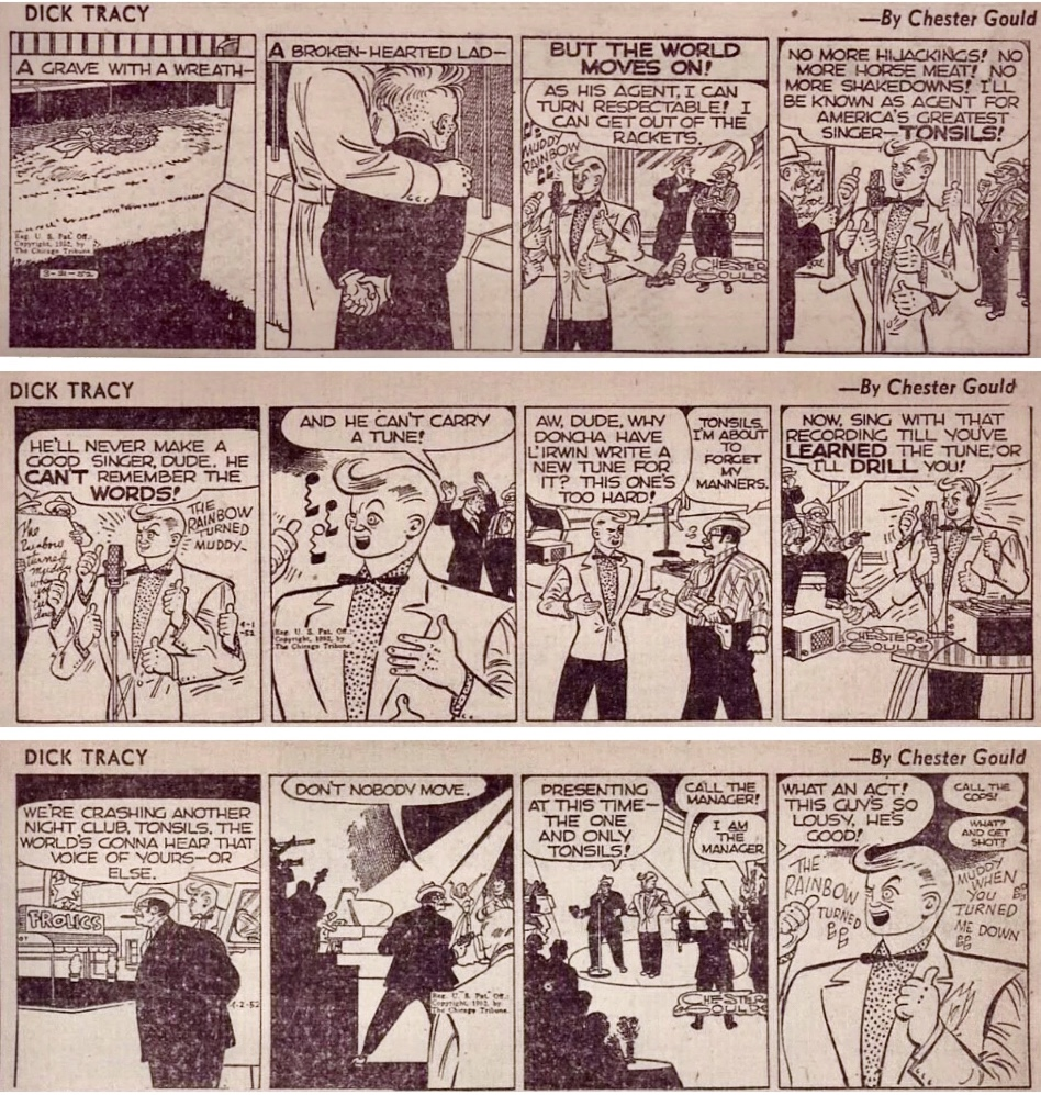 Dagsstrippar i original från 31 mars till 2 april 1952. ©CTS