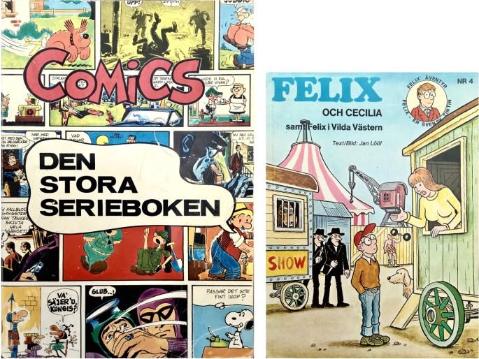 Omslag till seriealbum 1970 och 1973 med episoden. ©Illustrationsförlaget/Carlsen