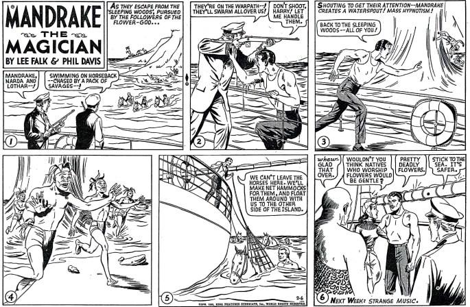 Liggande söndagssida i original från 6 februari 1955. ©KFS