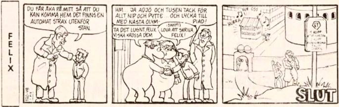 Sista strippen med Felix i DN från 30 augusti 1984. ©PIB