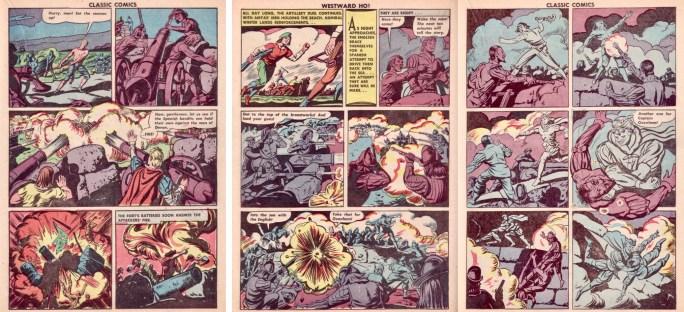 Sidan 25-27 ur CC #14 (1943). ©Gilberton
