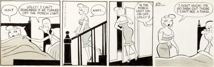 Ett original till en dagsstripp från 28 januari 1960. ©Chicago Tribune/NYN