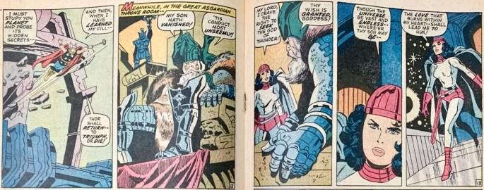 Mittuppslaget (utom annonser) ur Thor #178. ©Marvel