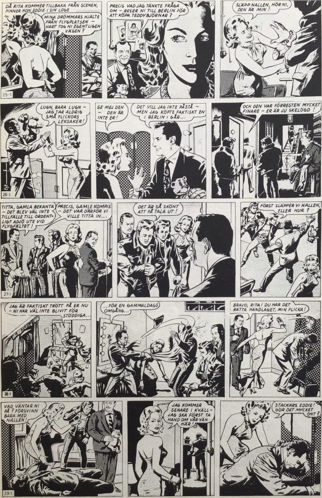 Motsvarande strippar från en sida ur Eddie nr 1, 1963. ©PIB
