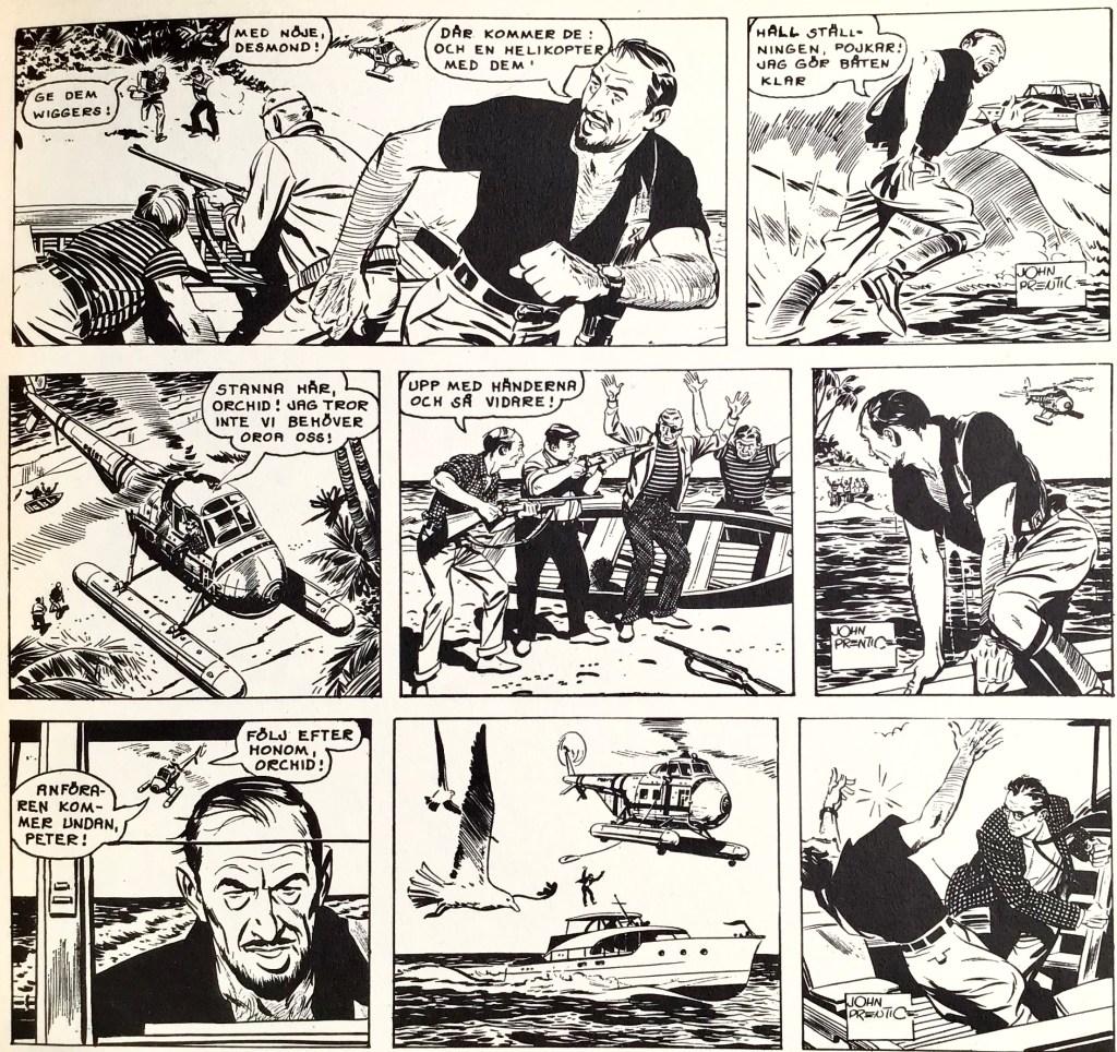 Tre dagsstrippar från 6-8 november 1962, ur Comics nr 1. ©Bulls