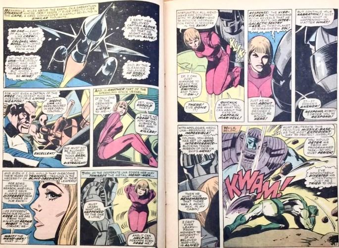 Ett uppslag ur Captain. Marvel #1. ©Marvel