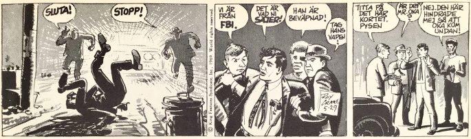 En dagsstripp från 29 maj 1969, ur Comics nr 1. ©Bulls