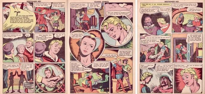 Sidan 8-10 ur CC #14 (1943). ©Gilberton