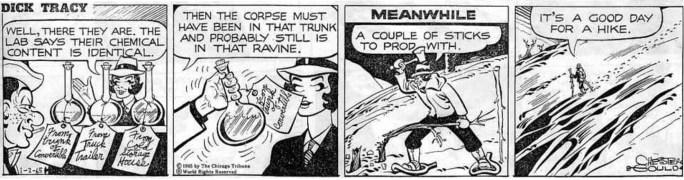 En motsvarande dagsstripp från lördag 2 januari 1965. ©CTS