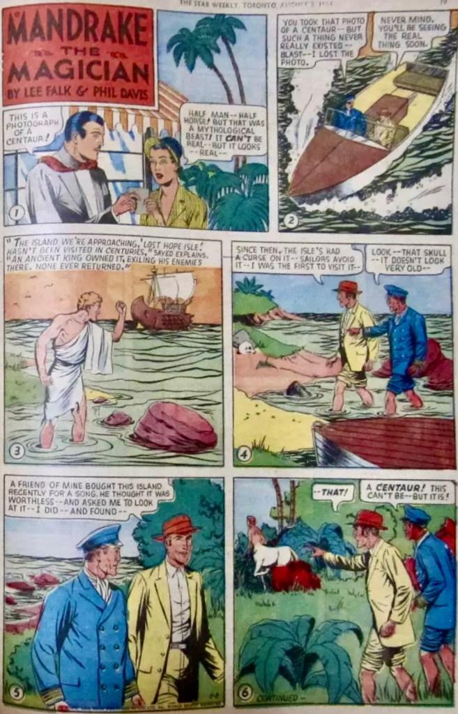 En söndagssida i original från 8 augusti 1954. ©KFS